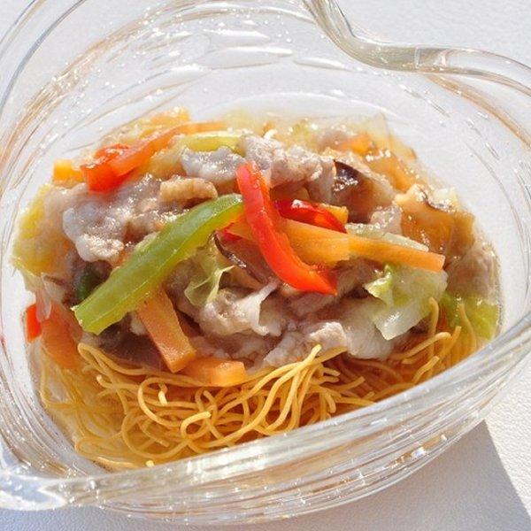 画像1: 【冷】回鍋肉のパリパリかた焼きそば (1)