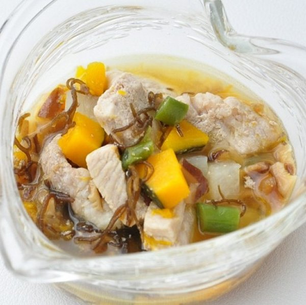 画像1: 【冷】角切り豚と大根のうま煮 (1)