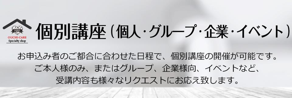 個別講座(個人・グループ・企業・イベント)